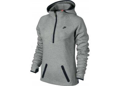 bda457b2439 Nike Sweat Run Tech Fleece W femme Gris argent pas cher