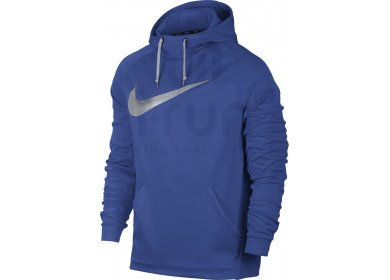 Nike Sweat Therma Training Hoodie M homme Bleu pas cher