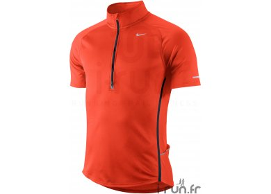 Nike TS demi zip Sphere Réact Homme orange