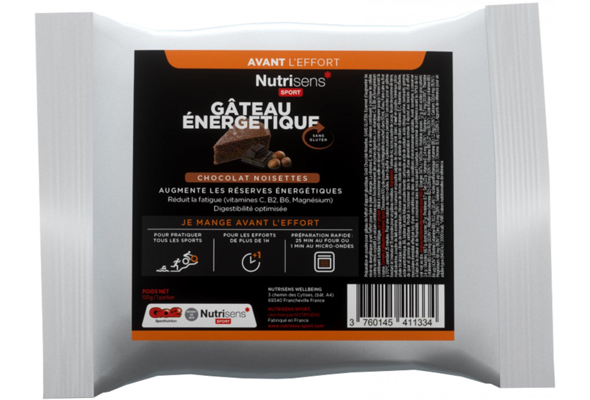 Nutrisens Sport Bolsa energética-Chocolate/avellanas Diététique Préparation
