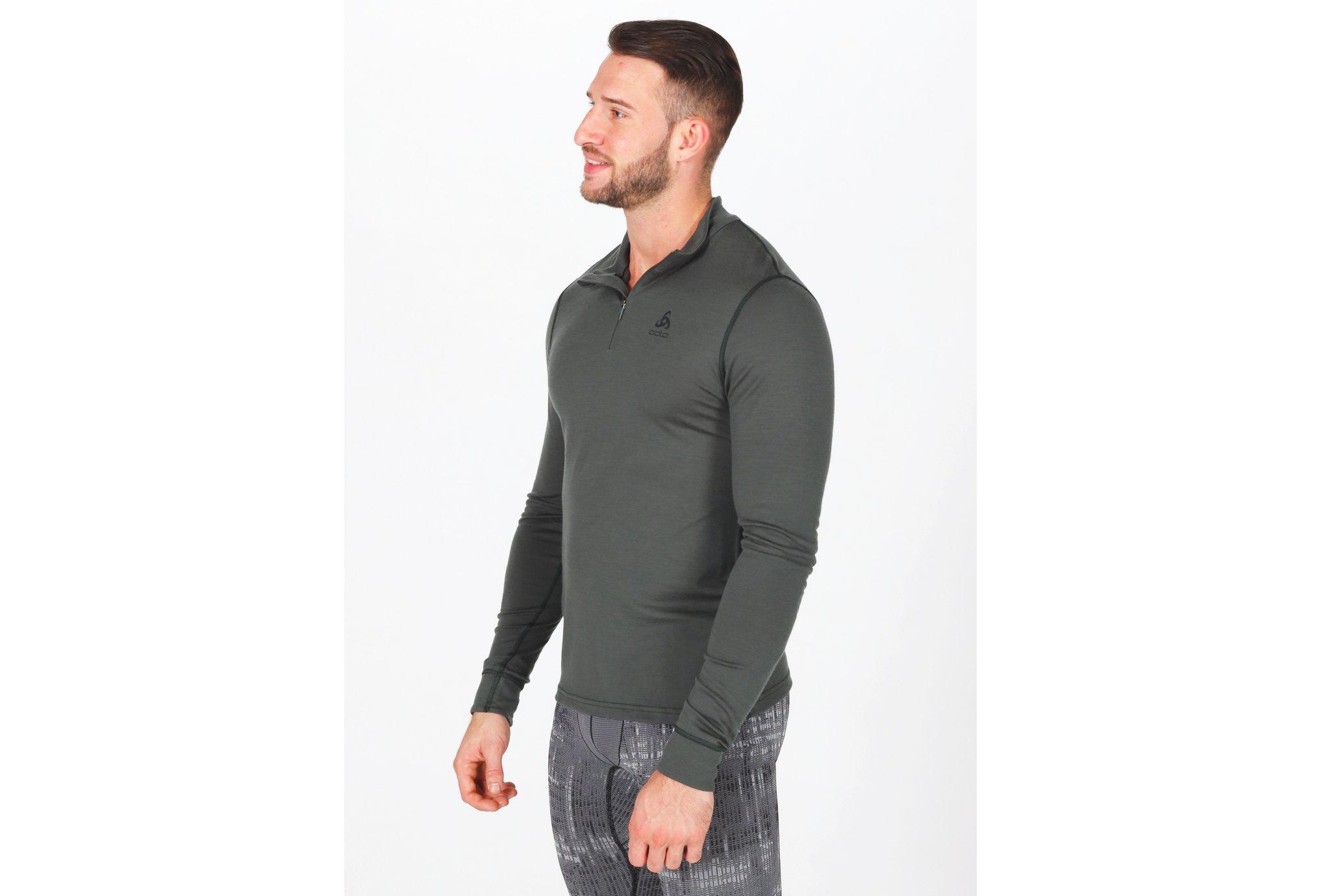 Odlo Natural 100% Merino 1/2 zip M Diététique Vêtements homme