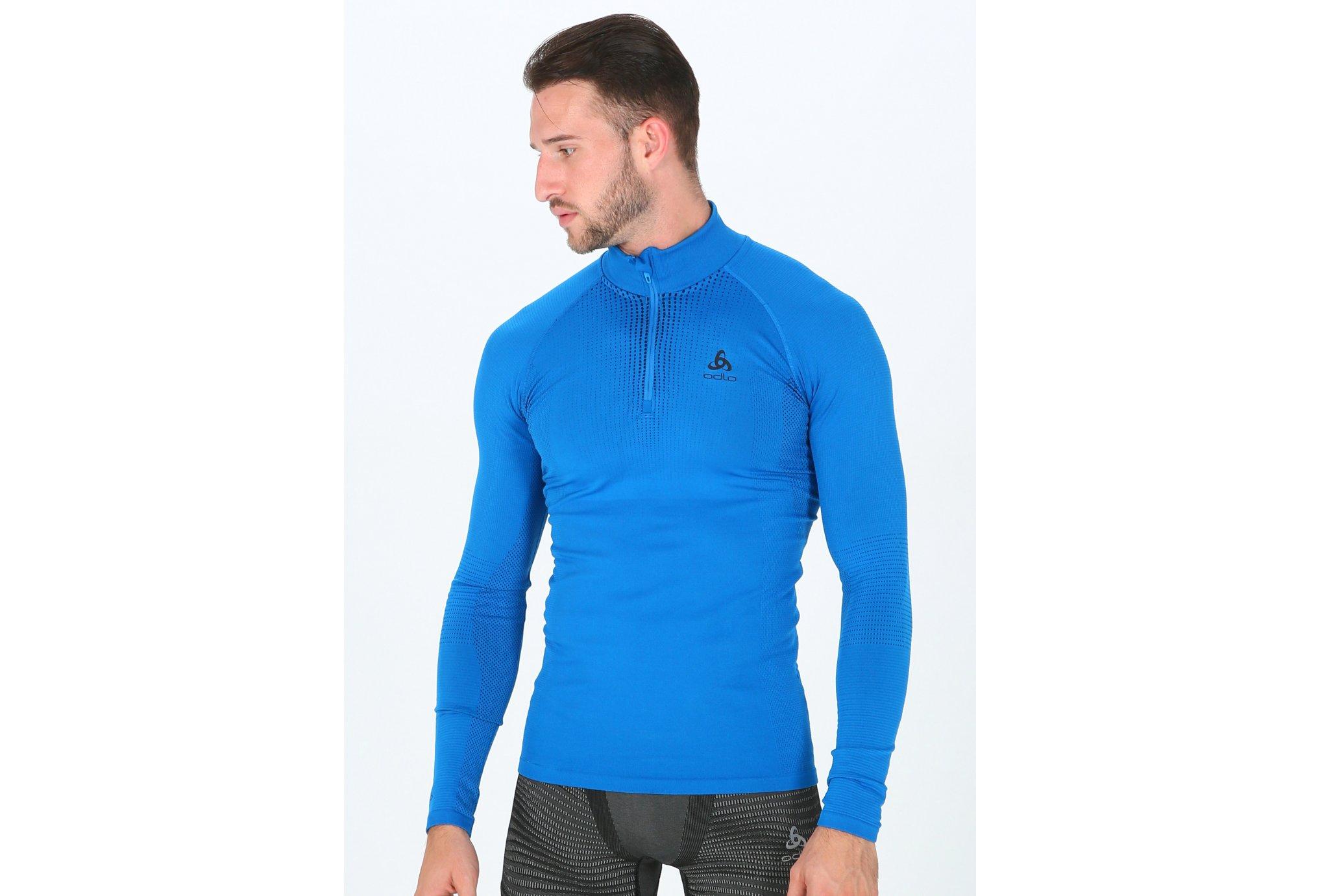 Odlo Performance Warm 1/2 zip M vêtement running homme