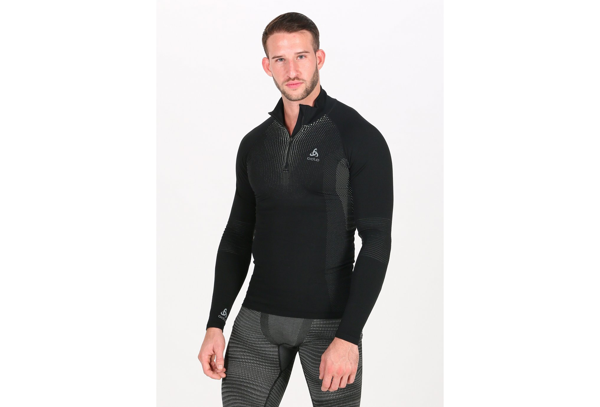 Odlo Performance Warm 1/2 zip M vêtement running homme