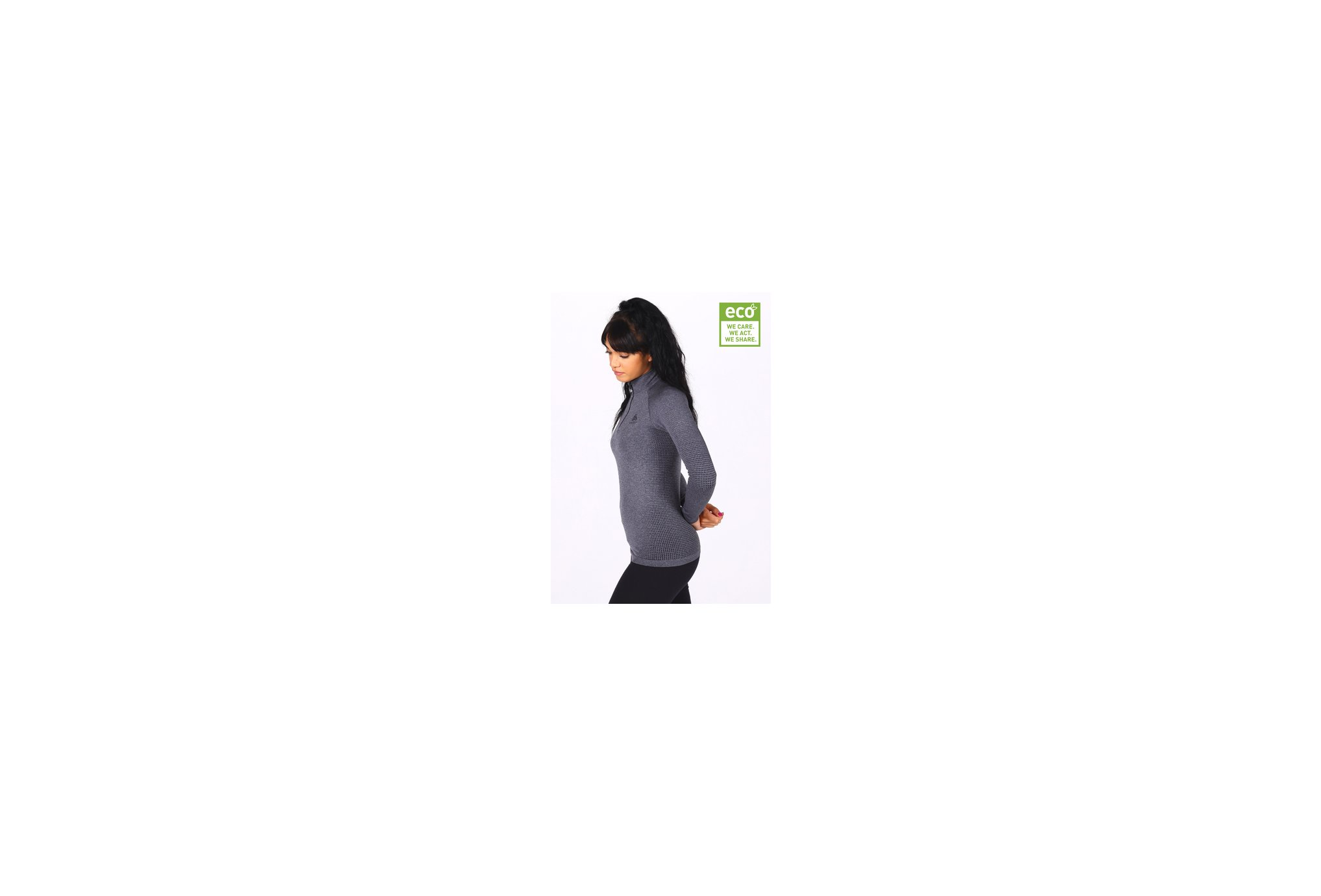 Odlo Performance Warm ECO 1/2 zip W vêtement running femme