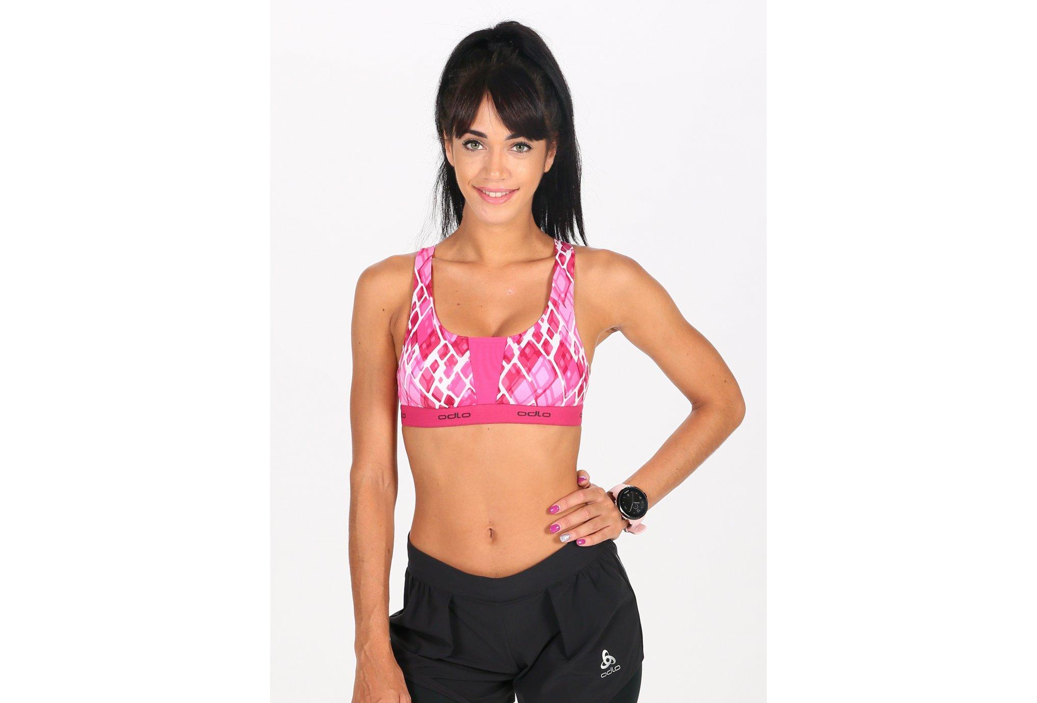 Odlo Soutien-Gorge de Sport Padded Medium vêtement running femme