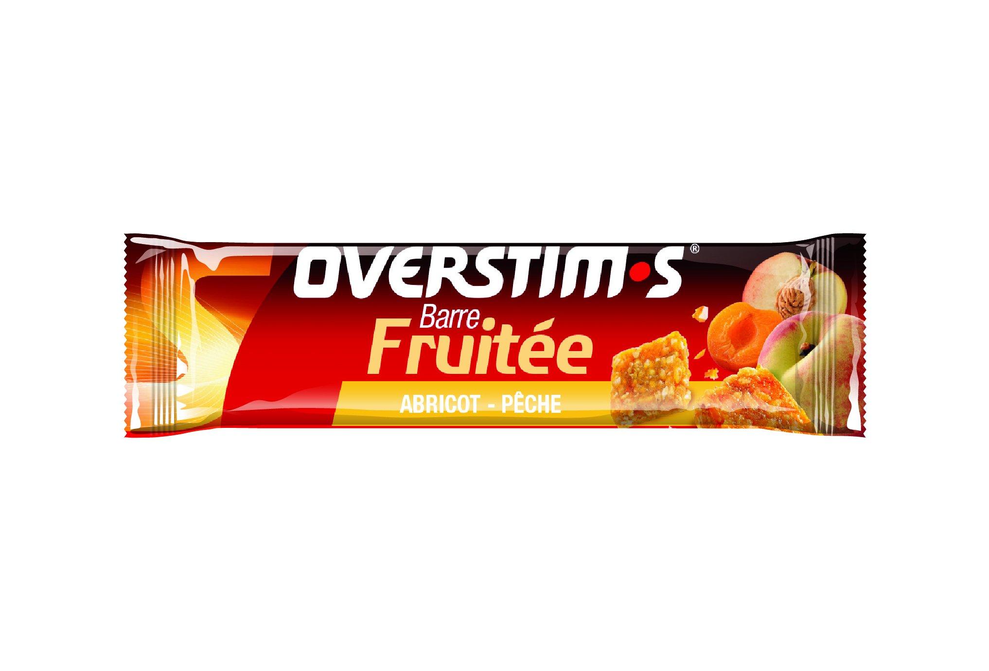 OVERSTIMS Barre Fruitée - Abricot/pêche Diététique Barres