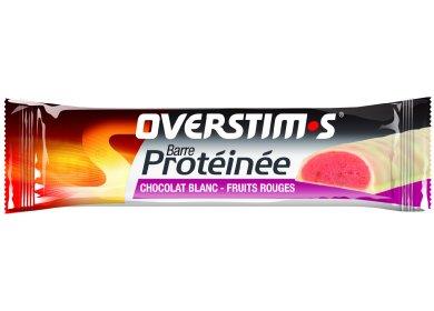 OVERSTIMS Barre Protéinée - Chocolat blanc/fruits rouges