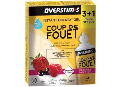 OVERSTIMS Étui Gels Energie Instantanée Coup de Fouet 3+1 - Fruits rouges