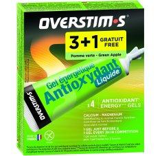 OVERSTIMS Étui Gels Liquides Antioxydant 3+1 - Pomme verte