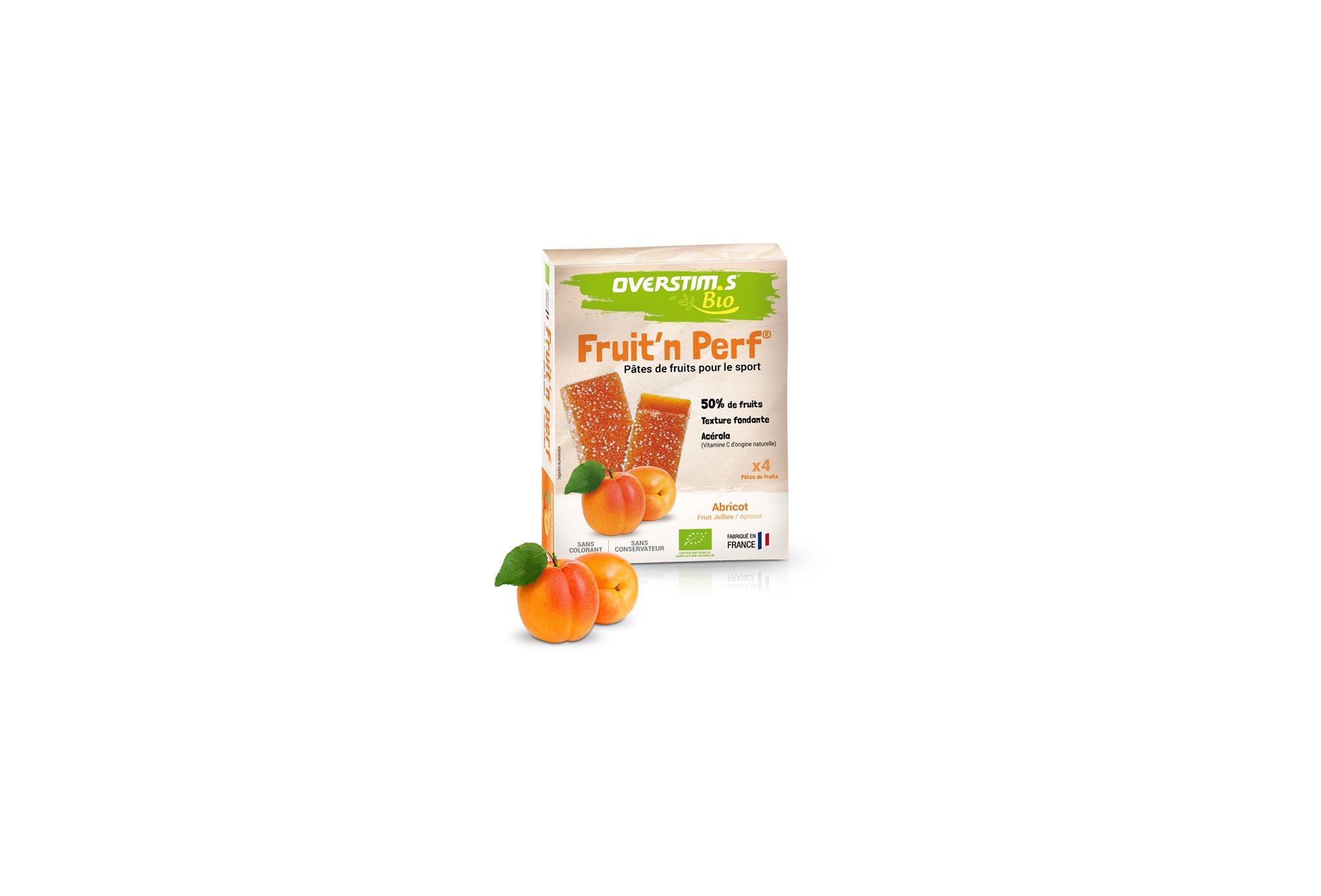 OVERSTIMS Étuis 4 barres Fruit'n Perf Bio - Abricot Diététique Barres
