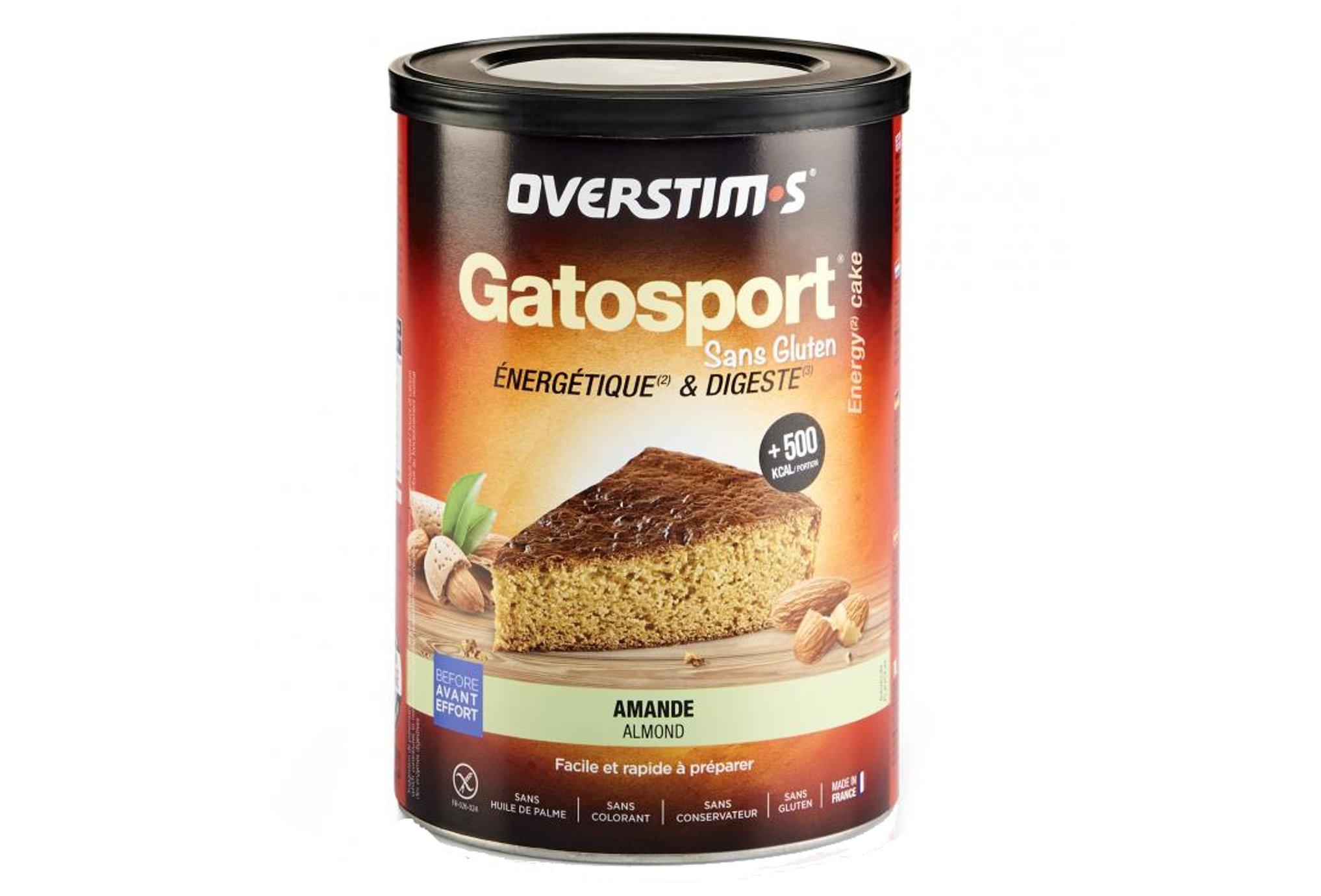 OVERSTIMS Gatosport 400 g - Amande sans gluten Diététique Préparation
