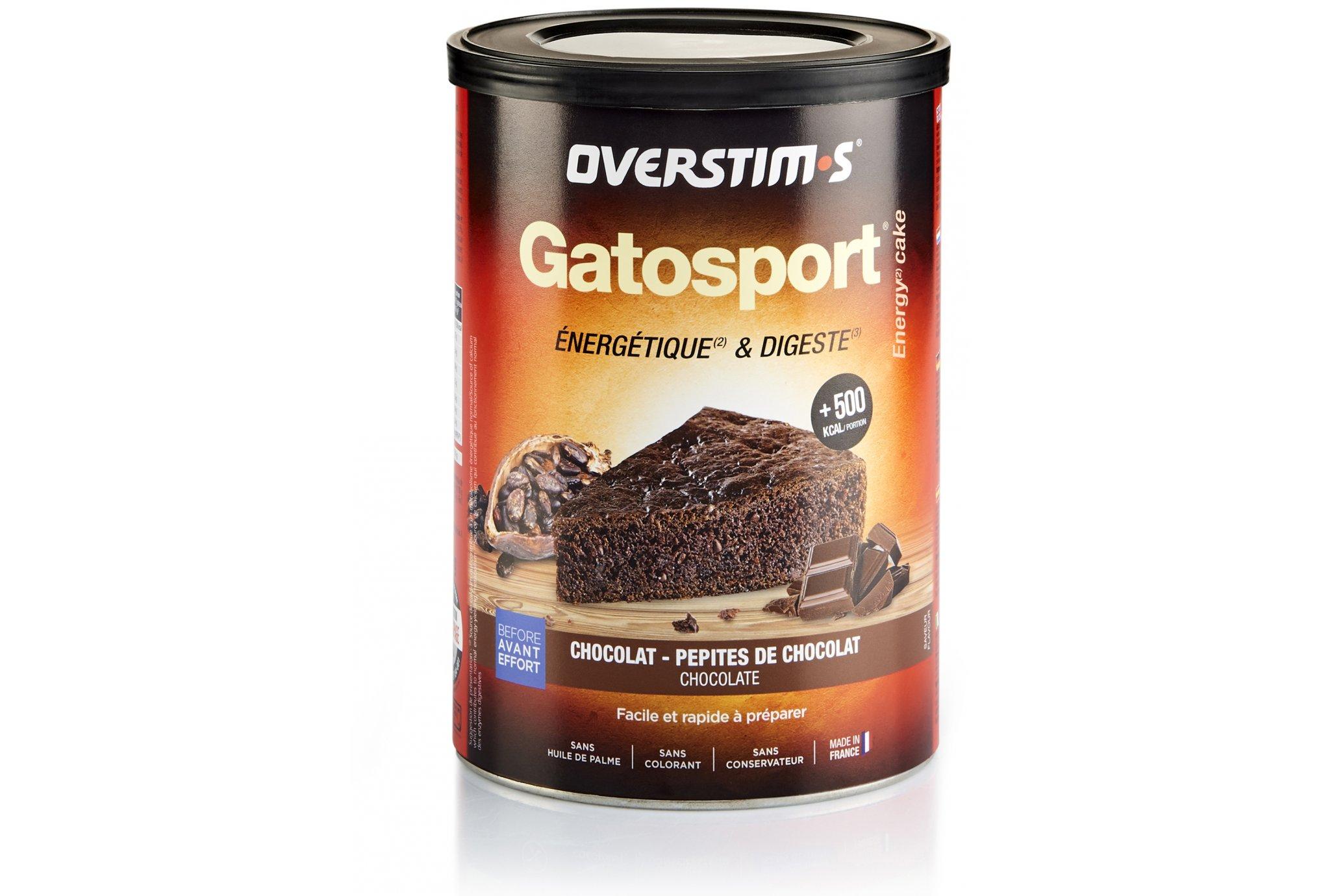 OVERSTIMS Gatosport 400 g - Chocolat/pépites de chocolat Diététique Préparation