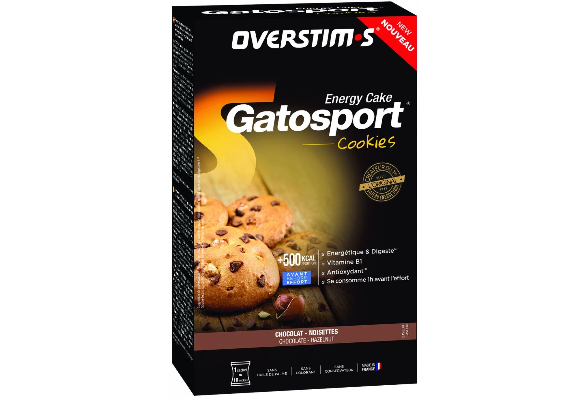 OVERSTIMS Gatosport Cookies - Chocolat/noisettes Diététique Préparation