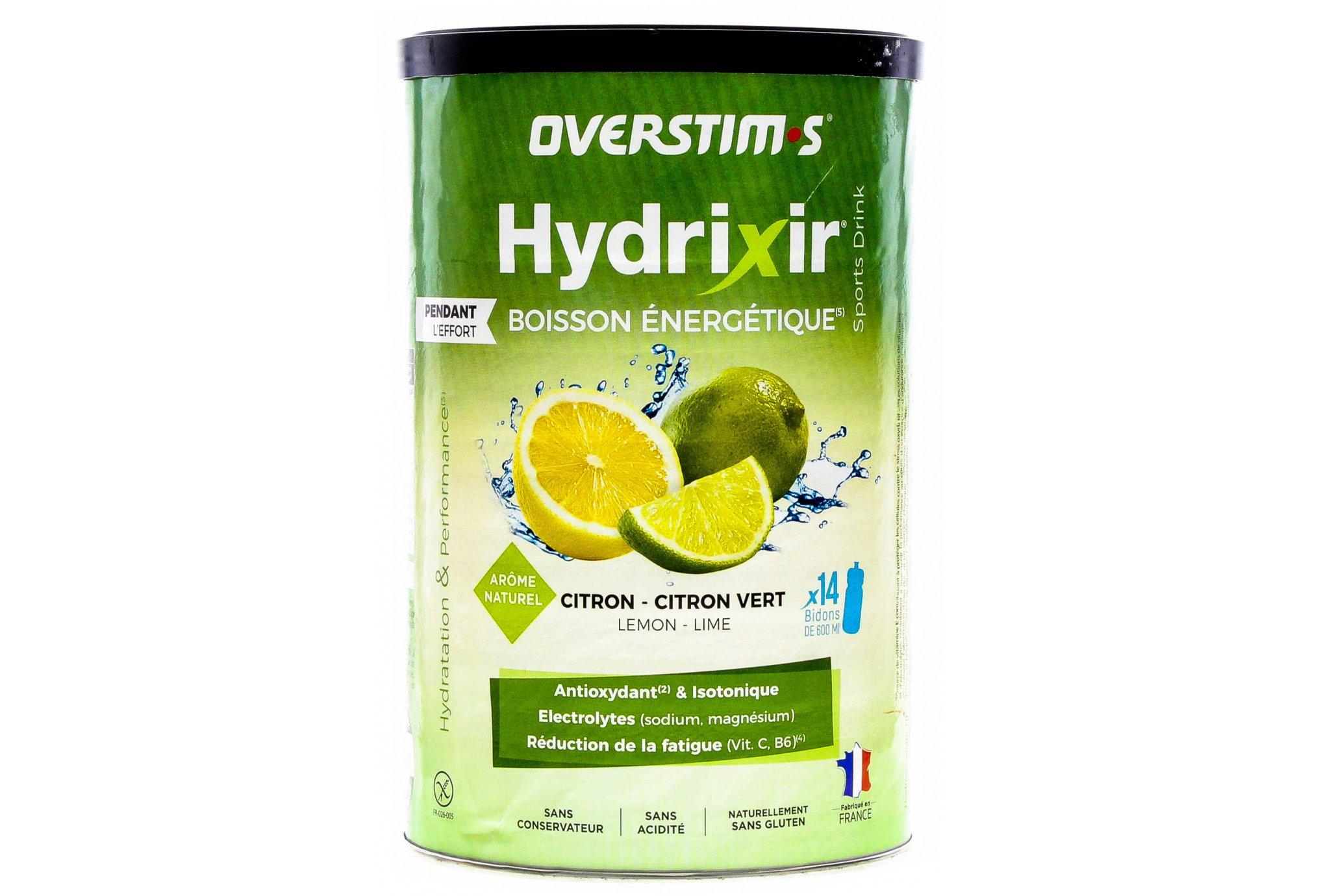 OVERSTIMS Hydrixir 600 g - Citron/citron vert Diététique Boissons