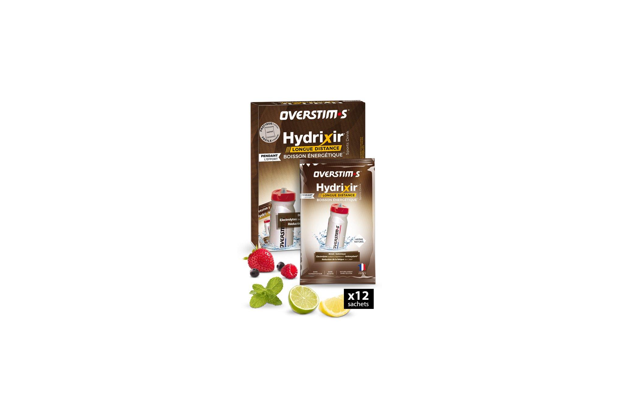 OVERSTIMS Hydrixir Longue Distance 12 sachets - Assortiments d'arômes Diététique Boissons