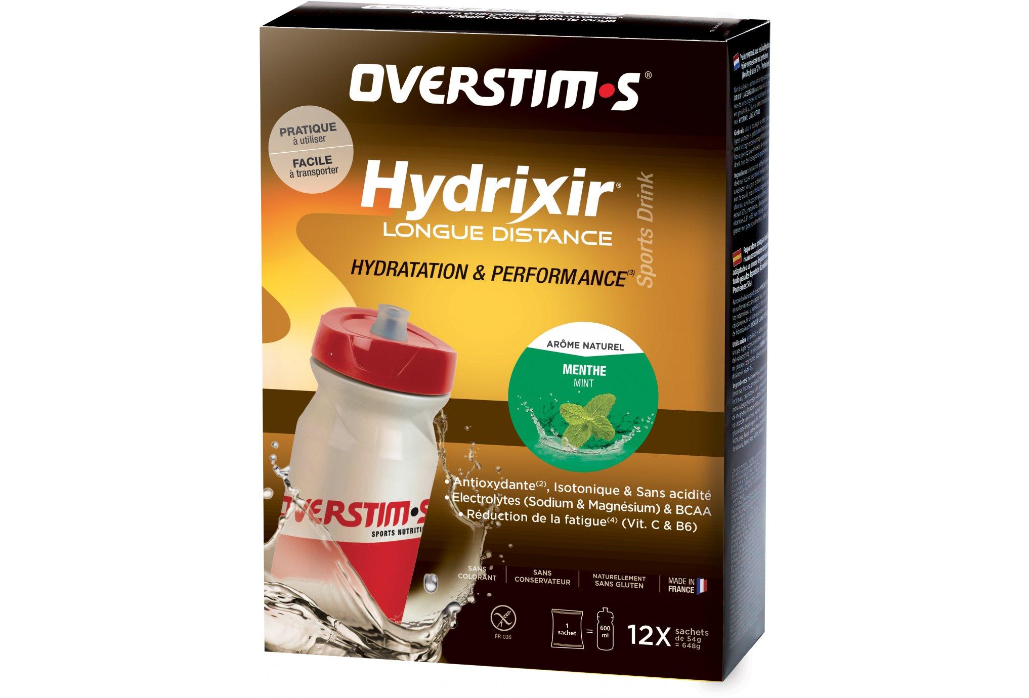 OVERSTIMS Hydrixir Longue Distance 12 sachets - Menthe Diététique Boissons