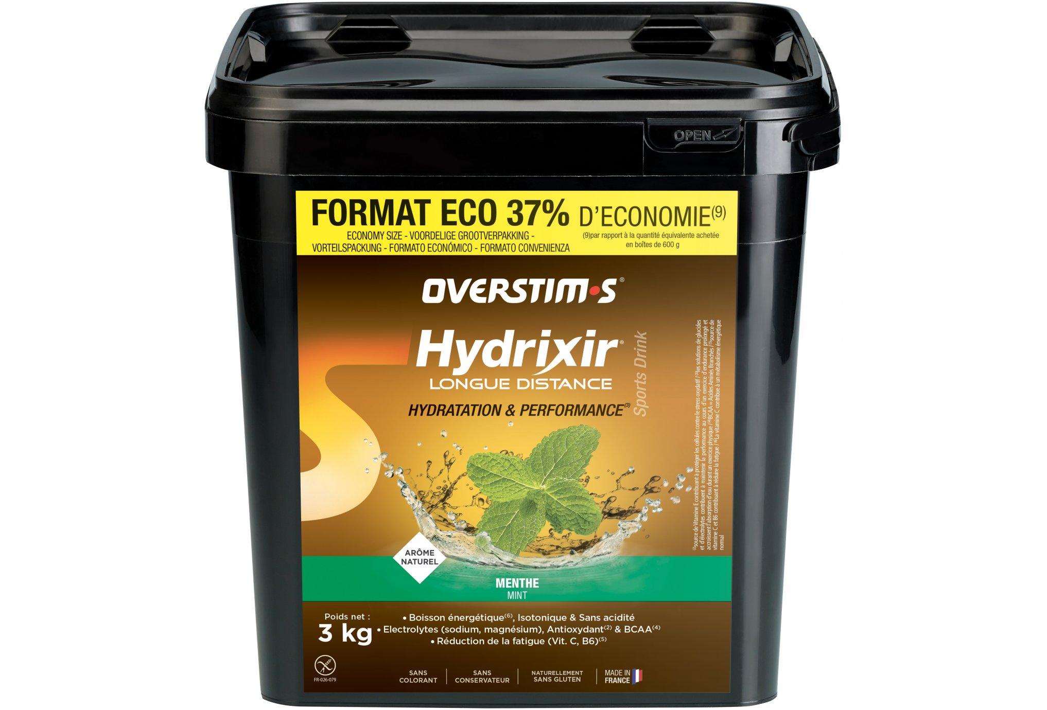 OVERSTIMS Hydrixir Longue Distance 3 kg - Menthe Diététique Boissons