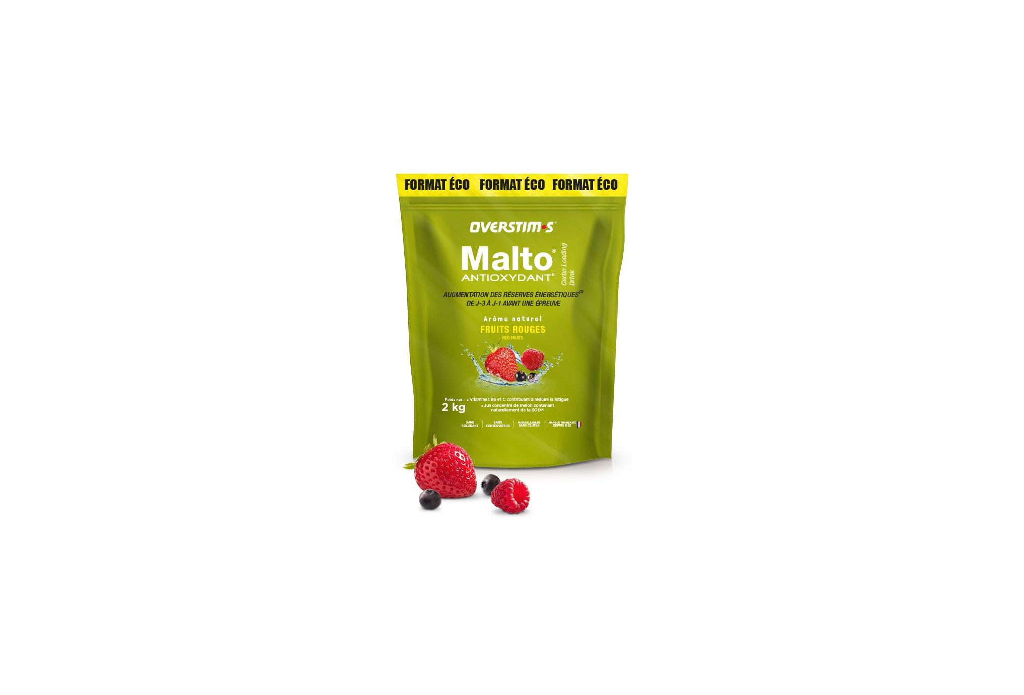 OVERSTIMS Malto Antioxydant 2 kg - Fruit rouges Diététique Préparation