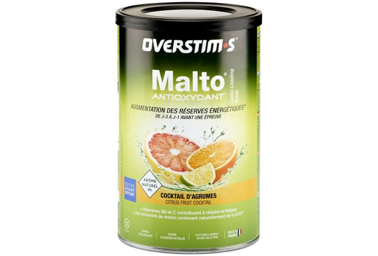 OVERSTIMS Malto Antioxydant 500 g - Cocktail d'agrumes