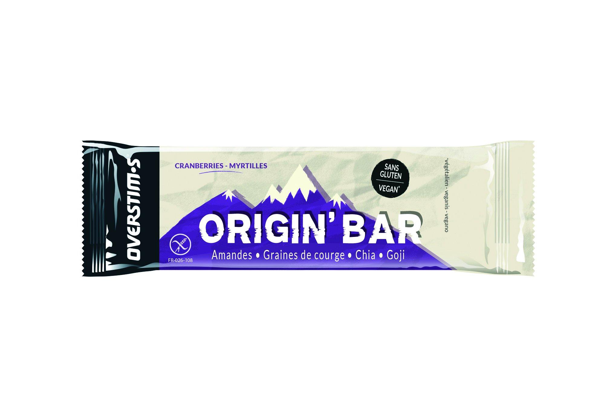 OVERSTIMS Origin Bar - Cranberries/myrtilles Diététique Barres
