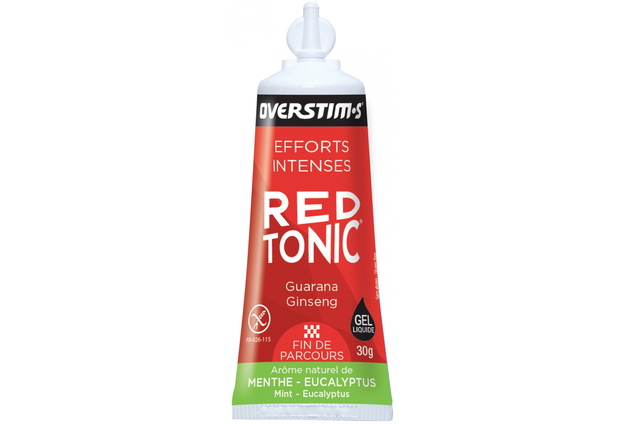 OVERSTIMS Red Tonic Sprint Air Liquide - menthe eucalyptus Diététique Gels