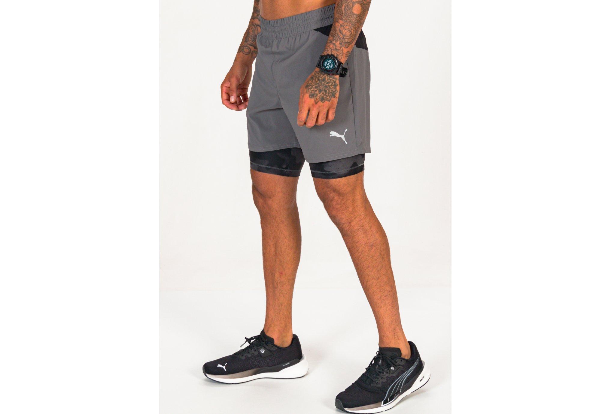 Puma Run Graphic 2 en 1 M vêtement running homme