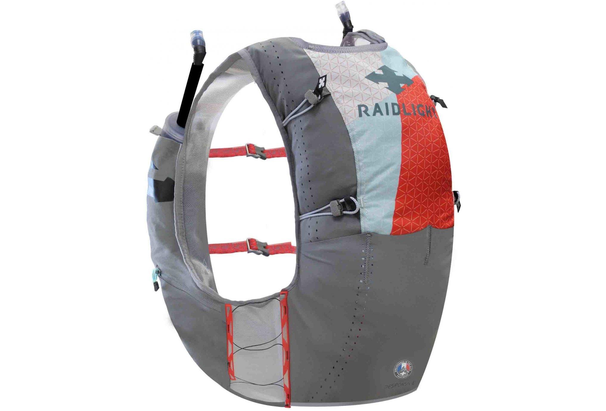 Raidlight Responsiv Vest 6L + 2 EazyFlask 600 mL M Sac hydratation / Gourde