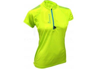 12 Zip Femme Tee shirt Running Vert Asics