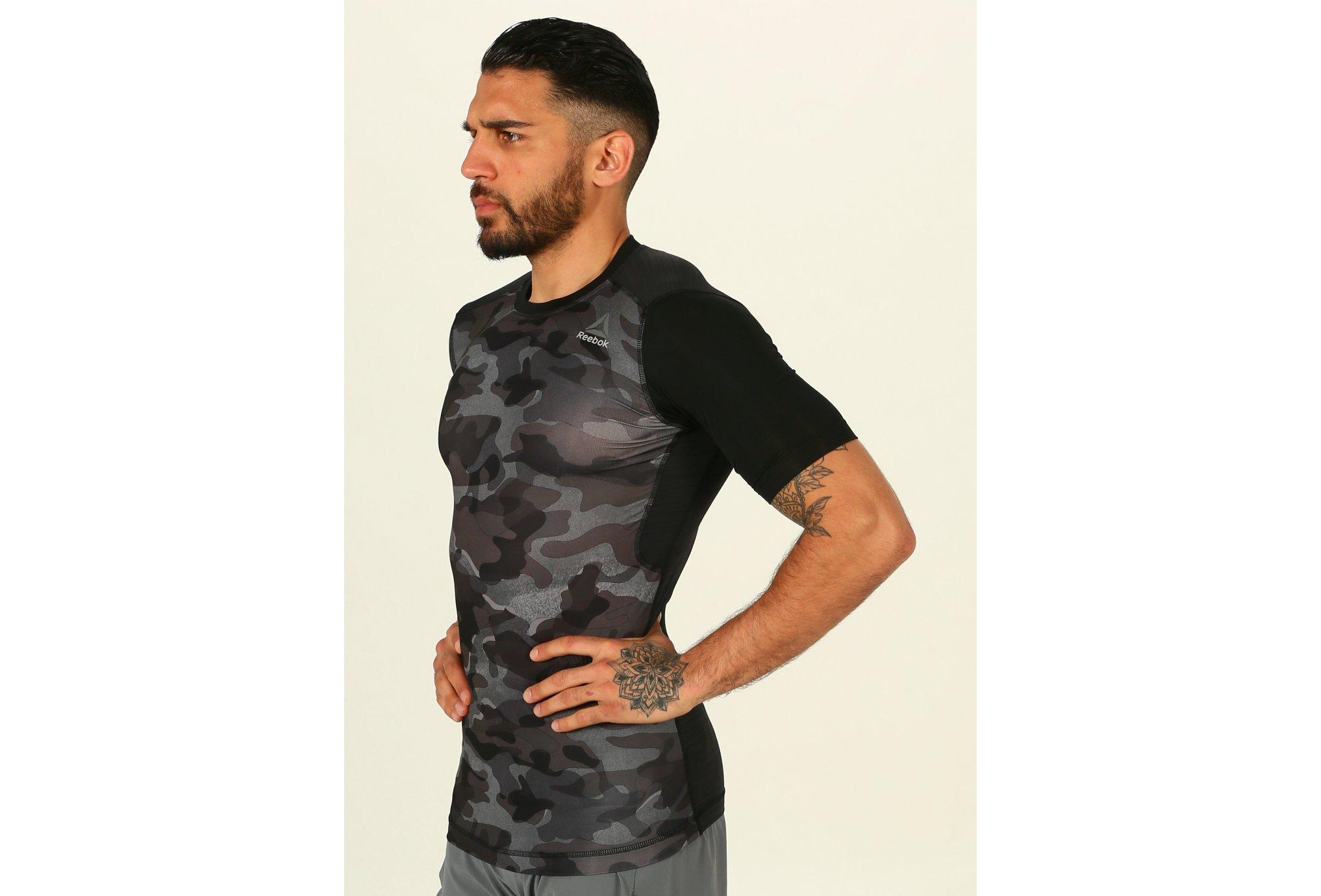 Reebok Camiseta manga corta de Compresión ActivChill Print vêtement running homme