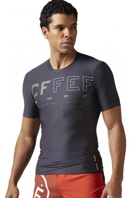 Reebok Camiseta manga corta de compresión Crossfit