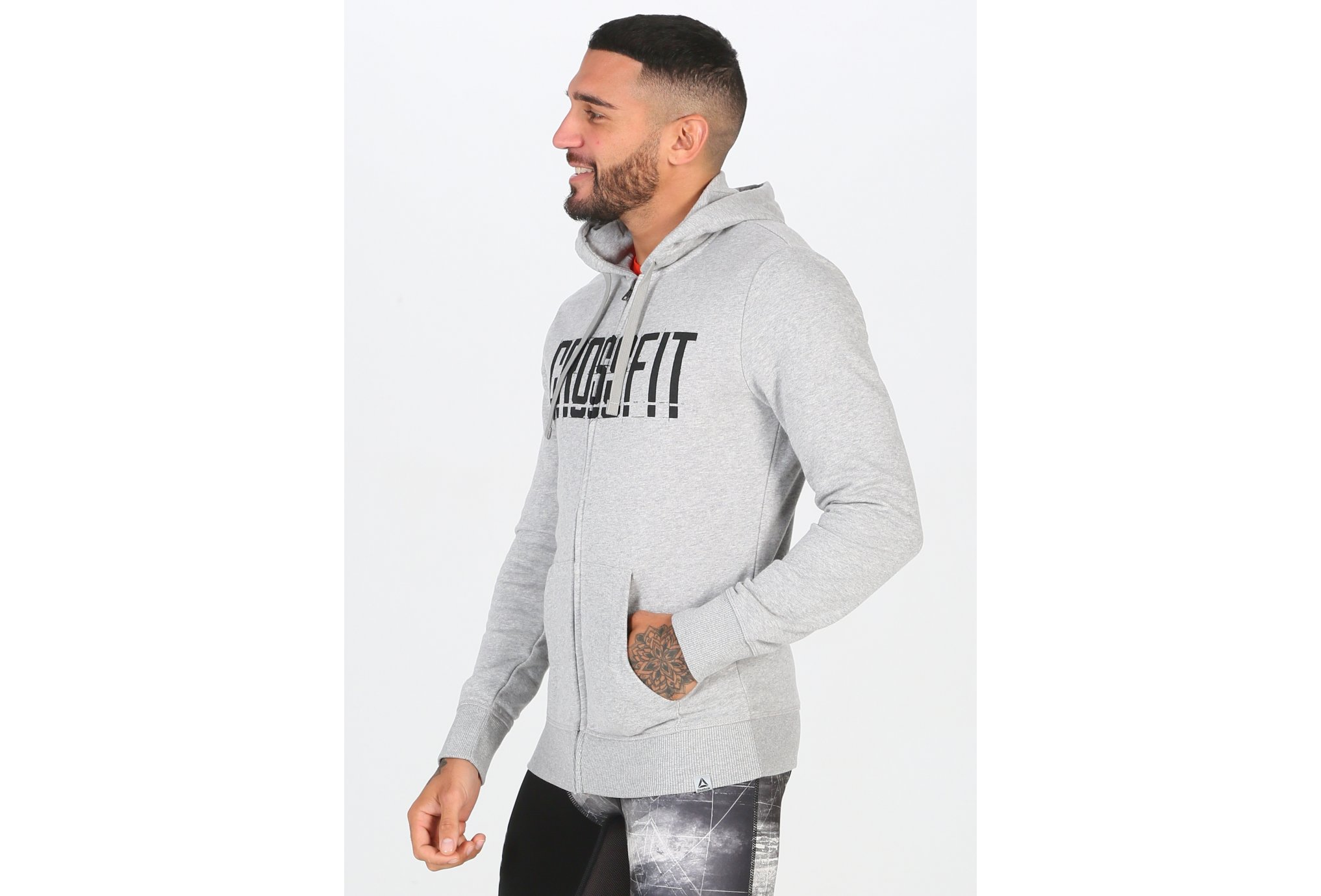 Reebok Crossfit Zip Hoodie M vêtement running homme