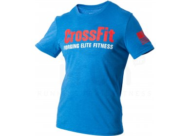 6f4b60b9c2f6 Reebok Tee-shirt CrossFit Forging Elite Fitness M homme Bleu pas cher