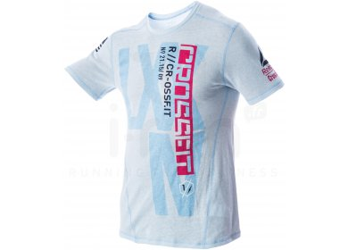 7476310b40c2 Reebok Tee-Shirt Crossfit Triblend M homme Bleu pas cher