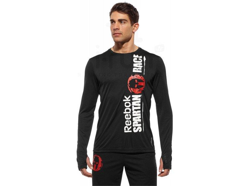 best loved 718c0 01f8d Reebok Tee-shirt Tech Spartan Fan M homme Noir pas cher