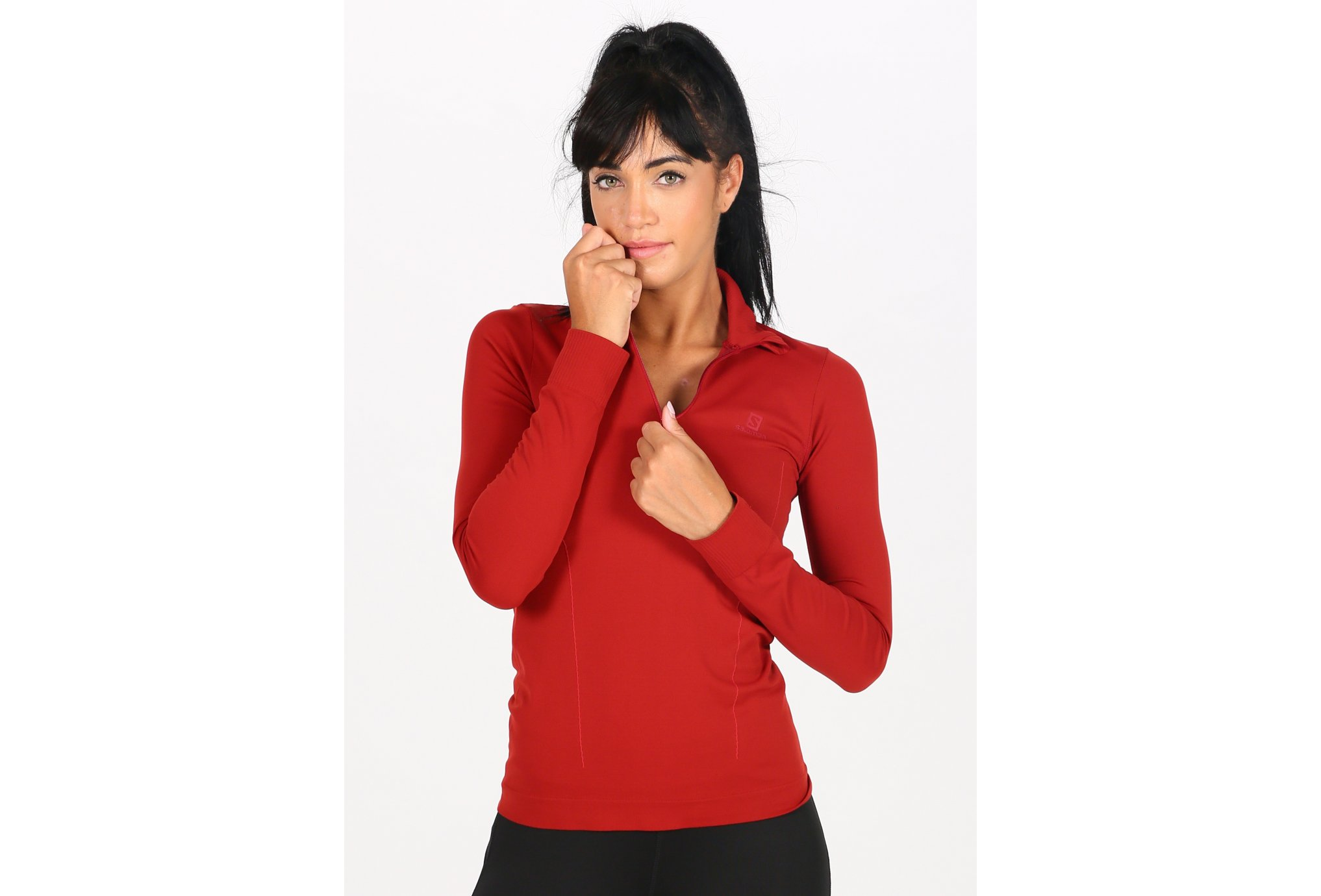 Salomon Comet Seamless 1/2 zip W vêtement running femme