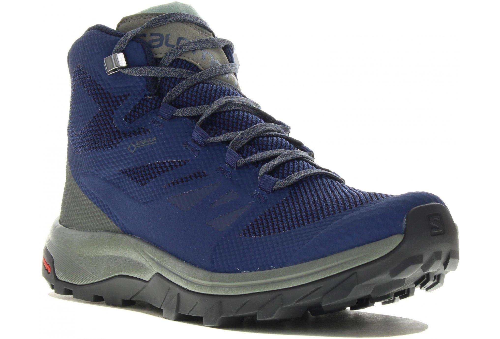 Salomon Outline Mid Gore-Tex M Diététique Chaussures homme