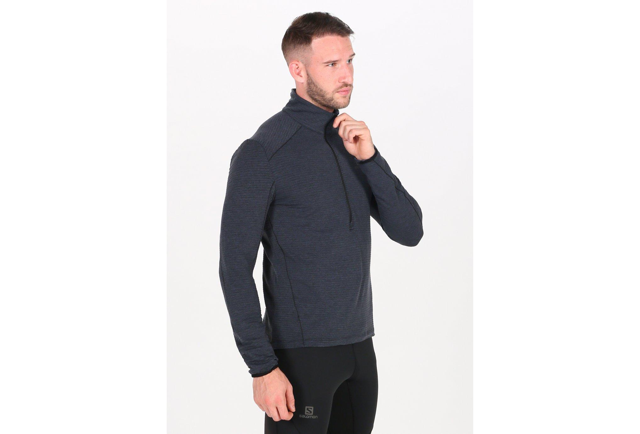 Salomon Outline Mid Half Zip M Diététique Vêtements homme