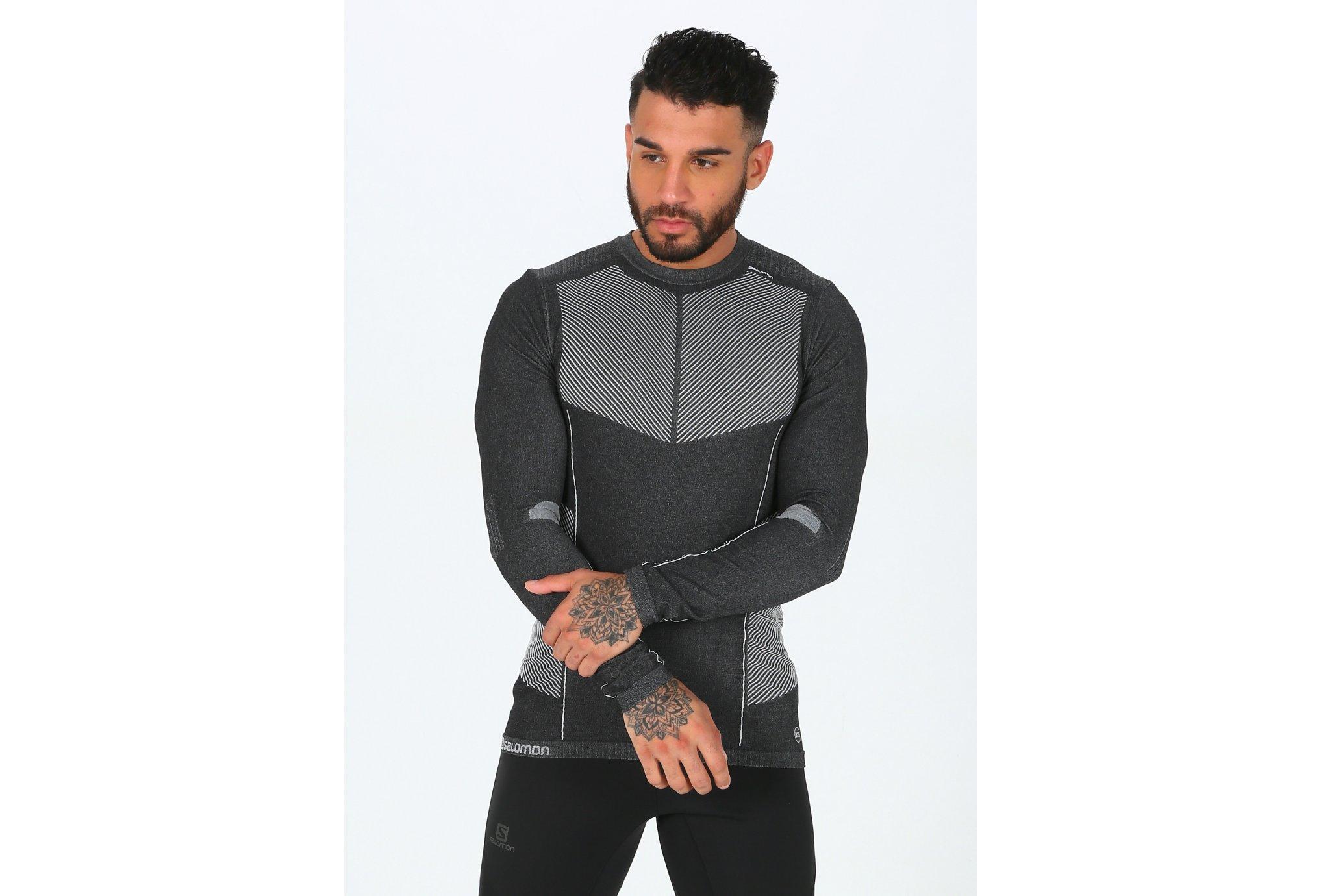 Salomon Primo Warm LS CN Seamless M Diététique Vêtements homme