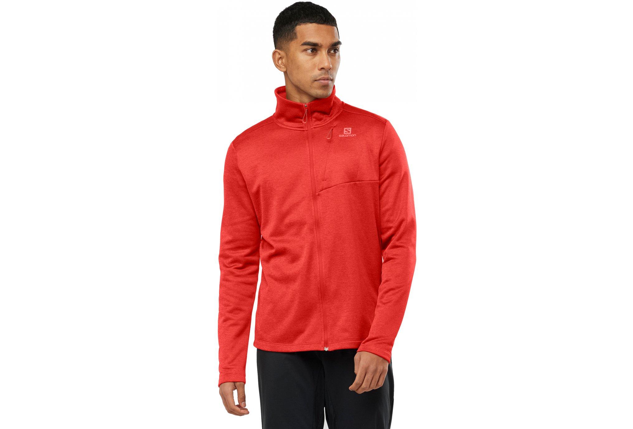 Salomon Transition Full Zip M vêtement running homme