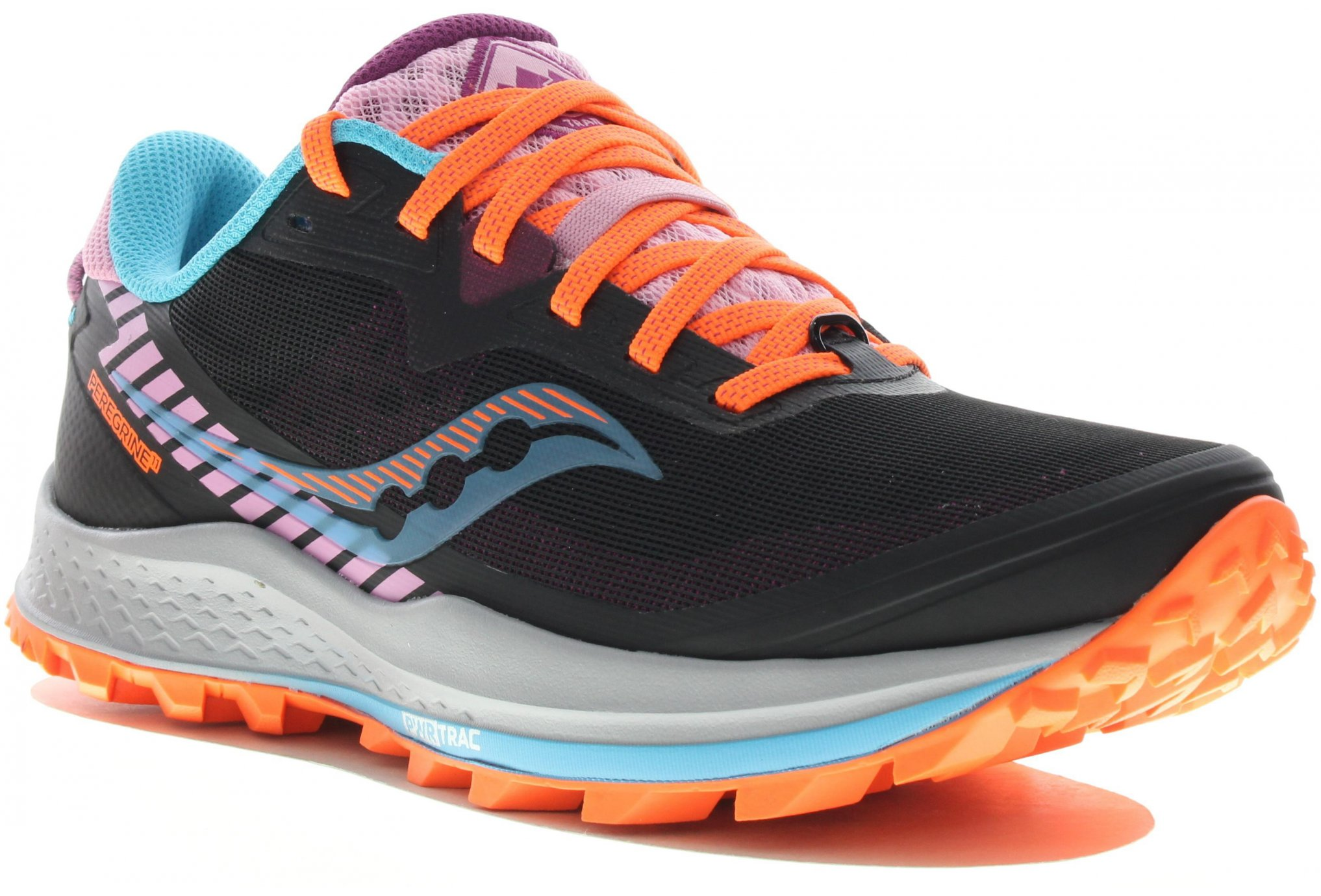 Saucony Peregrine 11 Bright Future Black W Chaussures running femme