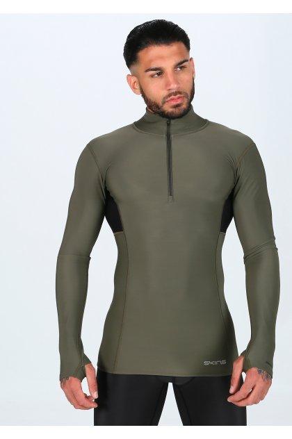 Skins Camiseta manga larga DNAmic Thermal Mock Neck Zip