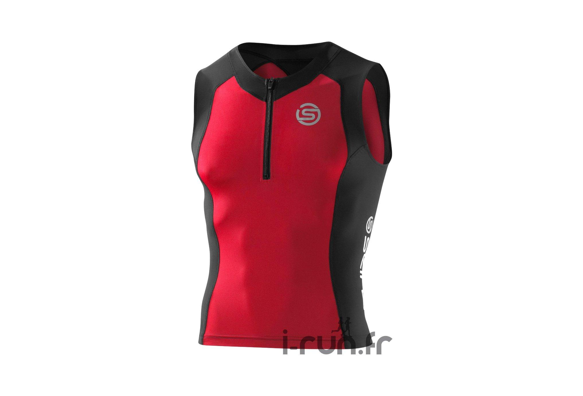 Skins Tri-Top Tri400 Rouge M Diététique Vêtements homme