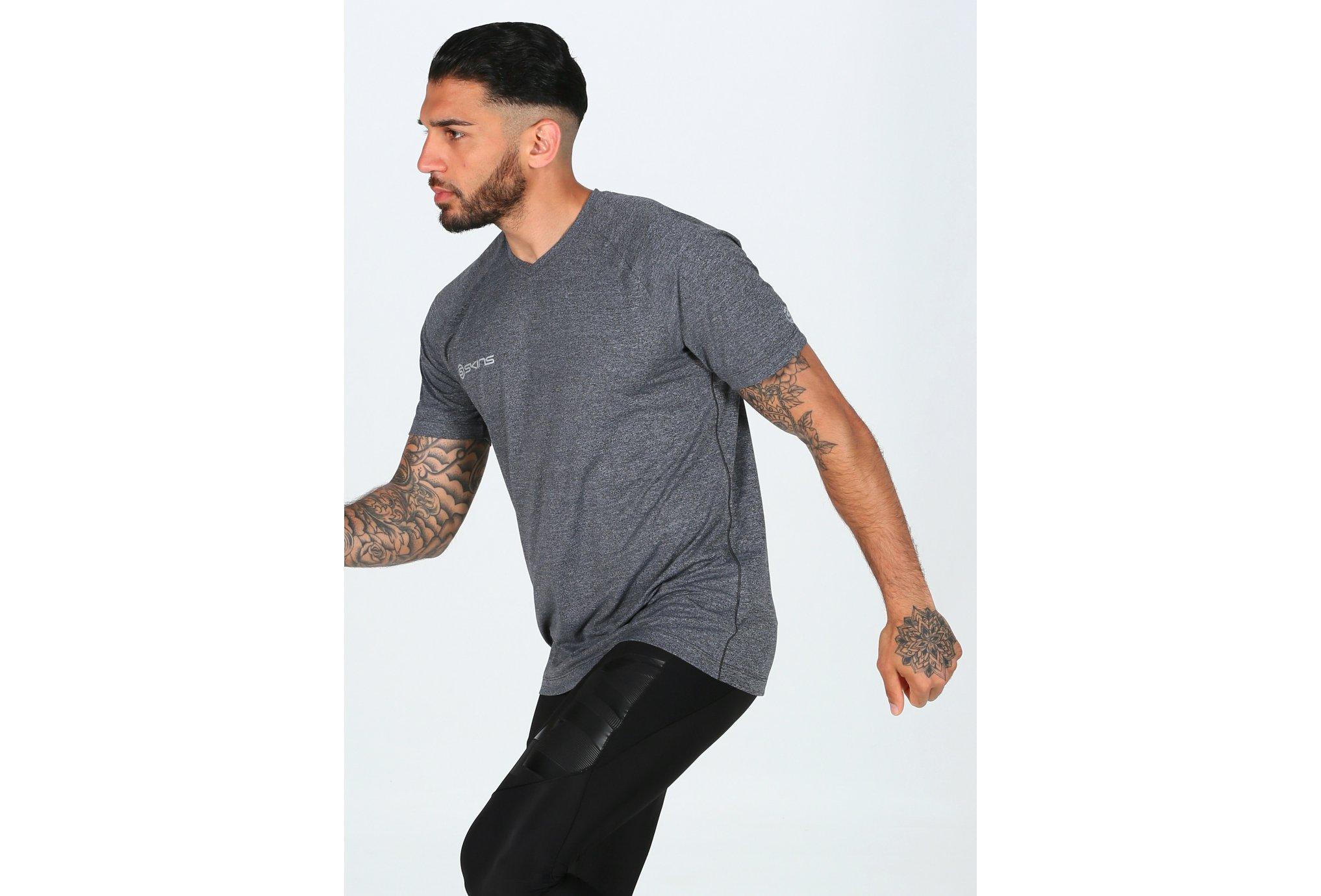 Skins Vector V Neck M vêtement running homme