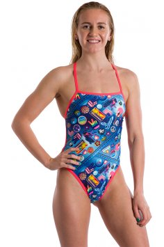 Speedo Retro Pop Cross Tieback W