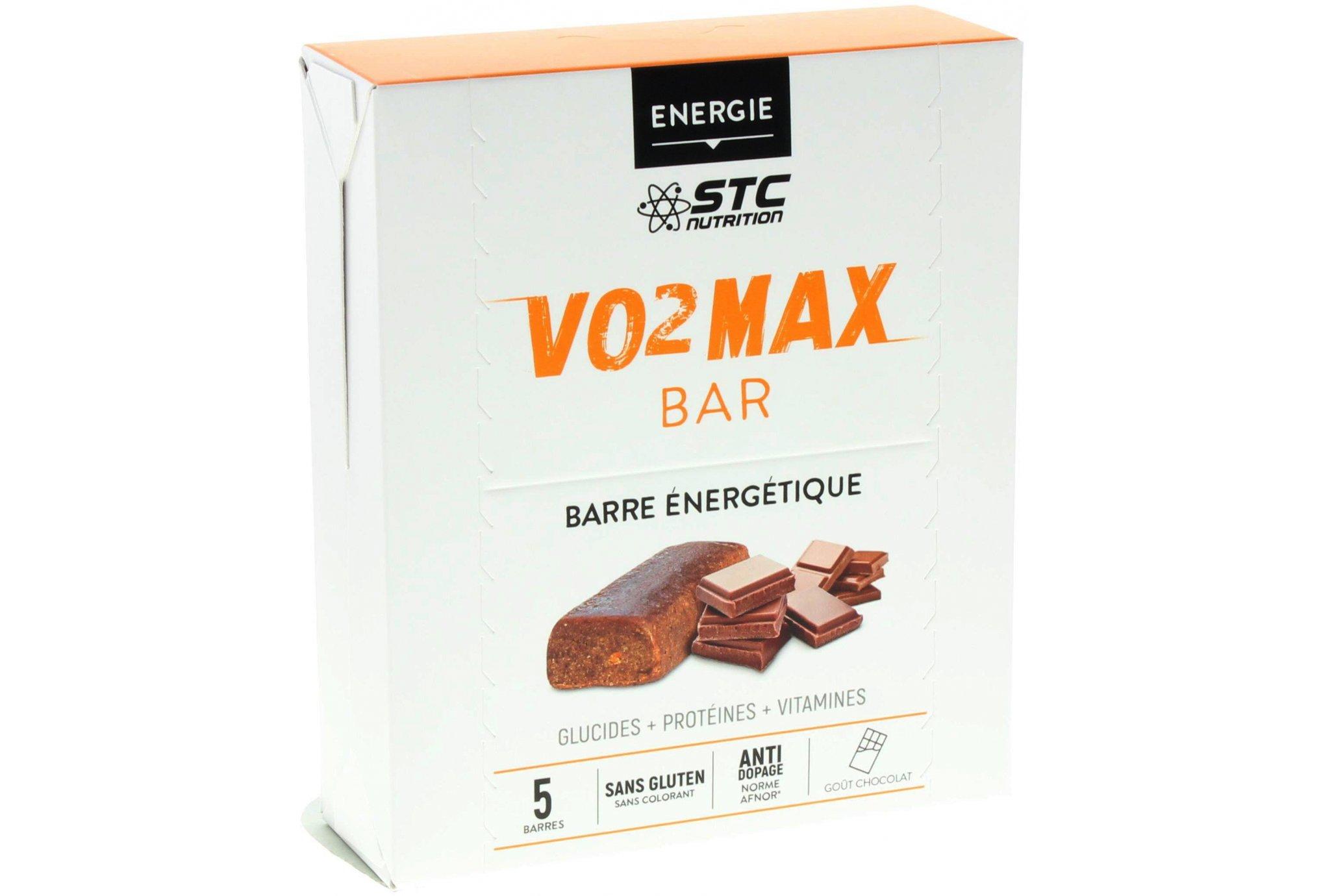 STC Nutrition Etui 5 barres VO2 Max chocolat Diététique Barres