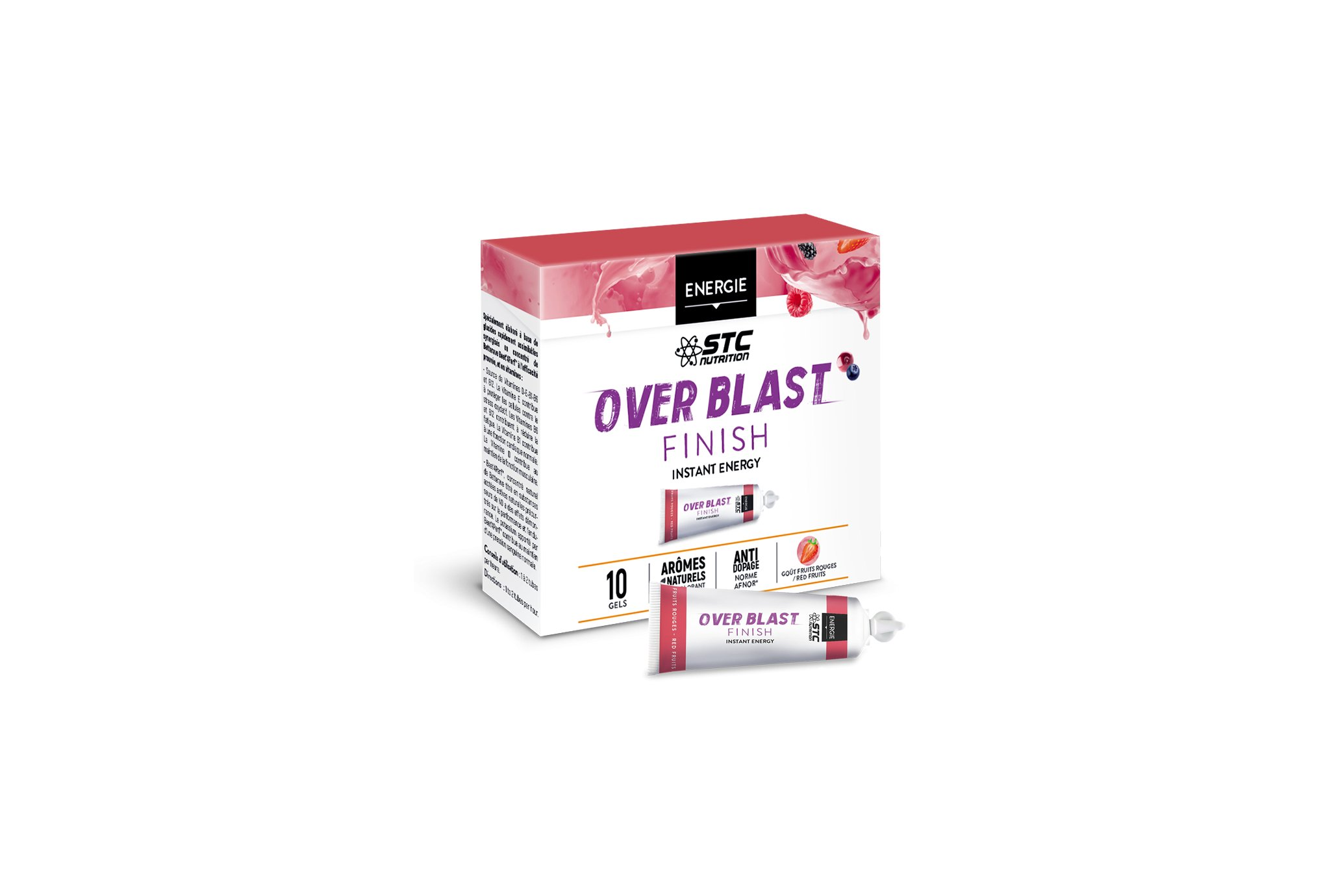STC Nutrition Etui Over Blast Finish - Fruits Rouges Diététique Gels