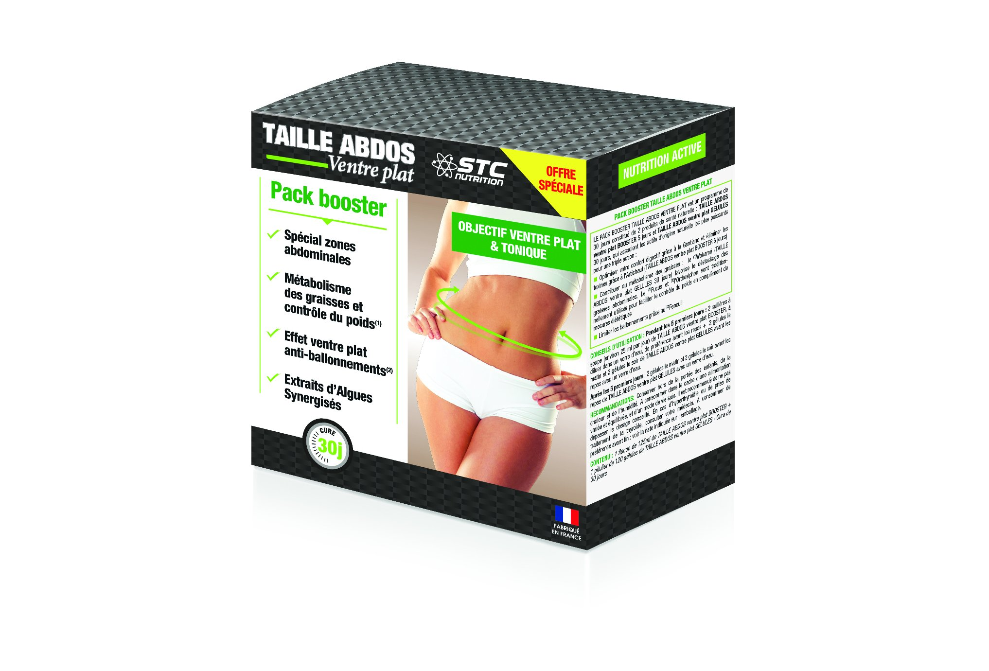 STC Nutrition Pack Booster Taille Abdos Diététique Compléments