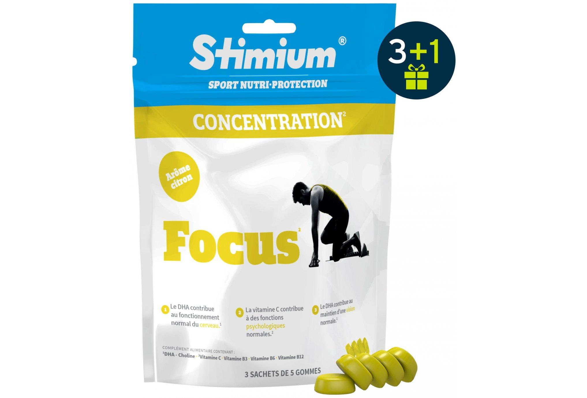 Stimium Gommes focus 3 +1 offert - citron diététique compléments