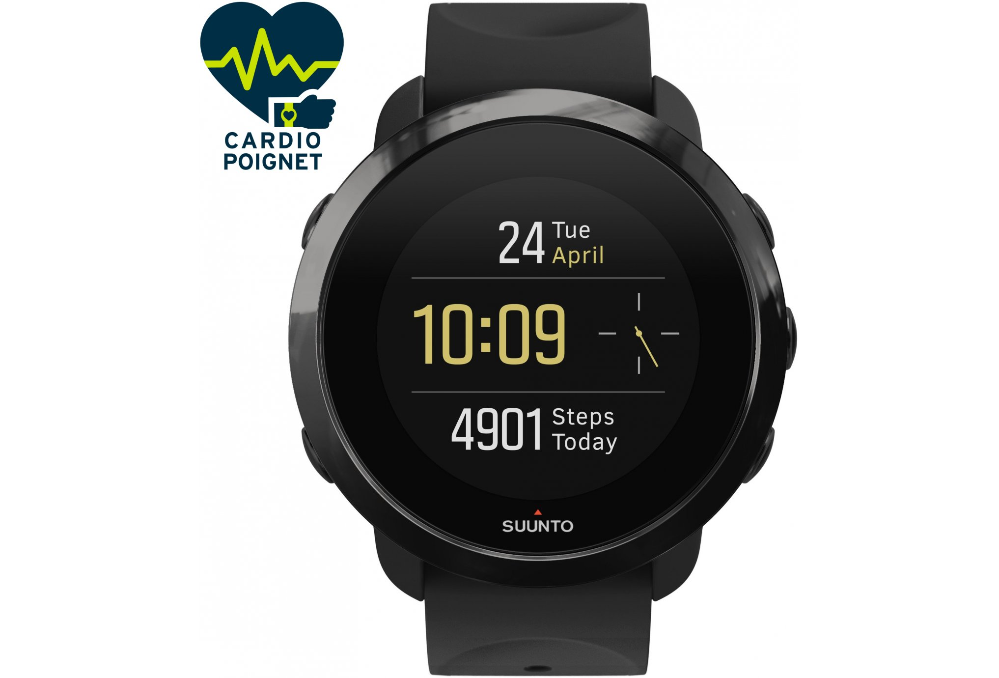 Suunto 3 fitness all black cardio-Gps