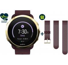 Suunto Pack 3 Fitness Burgundy + bracelet Burgundy Gold offert
